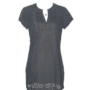 Isaac Mizrahi Black Mini Short Lace Dress A100263